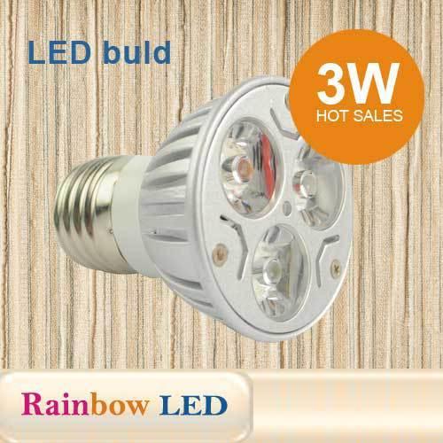 Super Bright 3W E27 LED Bulbs Spot Light 110V 220V Led Spotlights Warm/Cool White GU10 base LED downlight