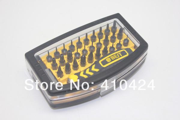 32Pcs BT-21068 ratchet precision screwdriver bit set kit for maintain repair laptop ipad mobile phone iphone(China (Mainland))