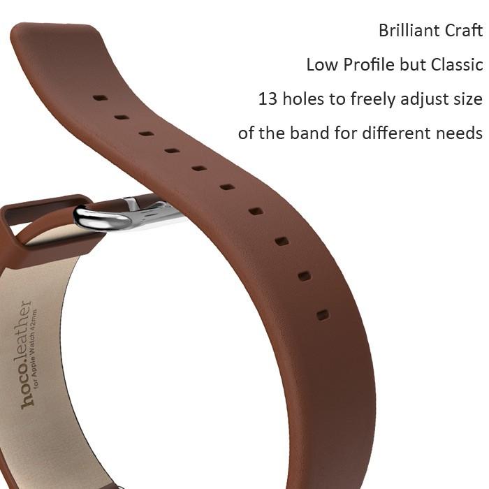 Носо классический кожаный ремешок ремешок из нержавеющей стали пряжка адаптер пояса для Apple , часы 42 мм