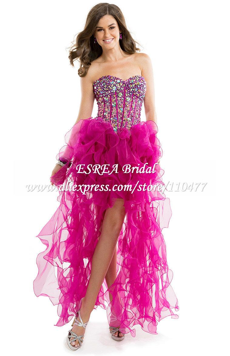 Short Front Long Back Prom Dresses Cocktail Dresses 2016