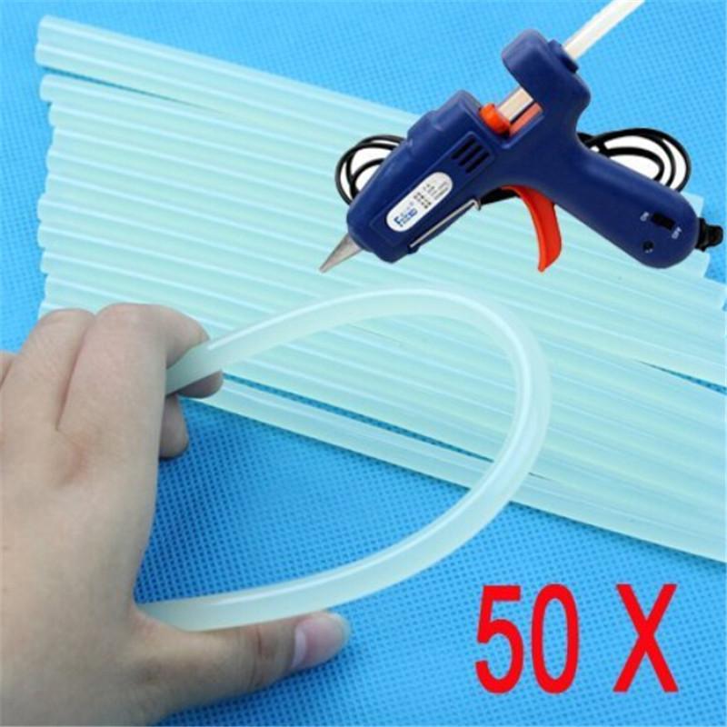 Special Offe 50 Pcs 7mmx100mm Clear Glue Adhesive Sticks For Hot Melt Glue sticks for Glue Gun Car Audio Craft Alloy Accessories<br><br>Aliexpress