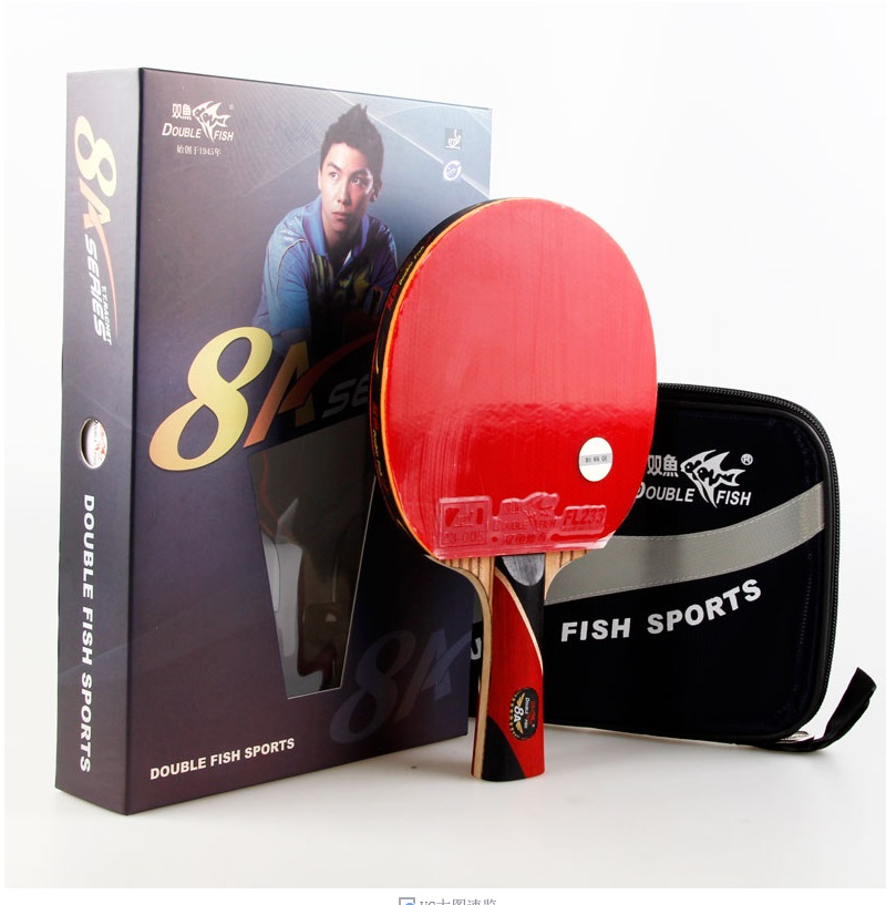 original double fish 8A-C 7A-C Table tennis rackets . 8 STARS . finished product Table tennis racquet(China (Mainland))