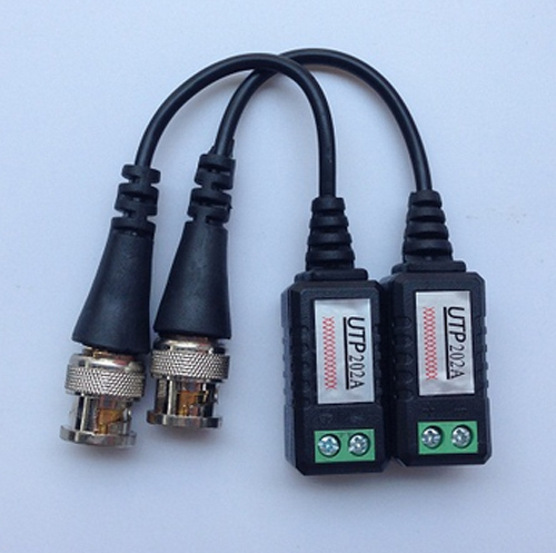 10pairs/lot Twisted CCTV Video Balun Passive Transceivers 3000FT Distance UTP Balun BNC Cable Cat5 CCTV UTP Video Balun(China (Mainland))