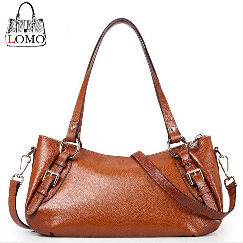 100%Natural Leather Bags Fashion Designers Brand Genuine Leather handbag vintage Female Shoulder Bag Boston Tote bag(China (Mainland))