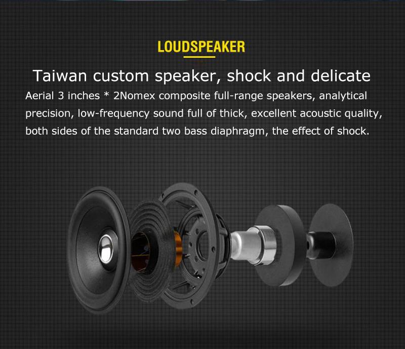 speaker wood USB microphone FM 7