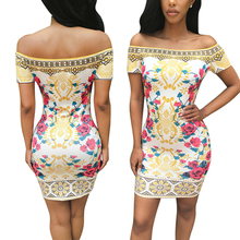 New Arrival 2016 Autumn Women Dress Fashion Print Vestidos Plus Size Sexy Sheath Party Dresses Elegant Vestido De Festa
