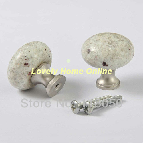 32mm Granite Drawer Knob Cabinet Knobs Handles,High Quality Home Hardware,Perfect Match w/ French Furniture White Dresser,8pcs(China (Mainland))