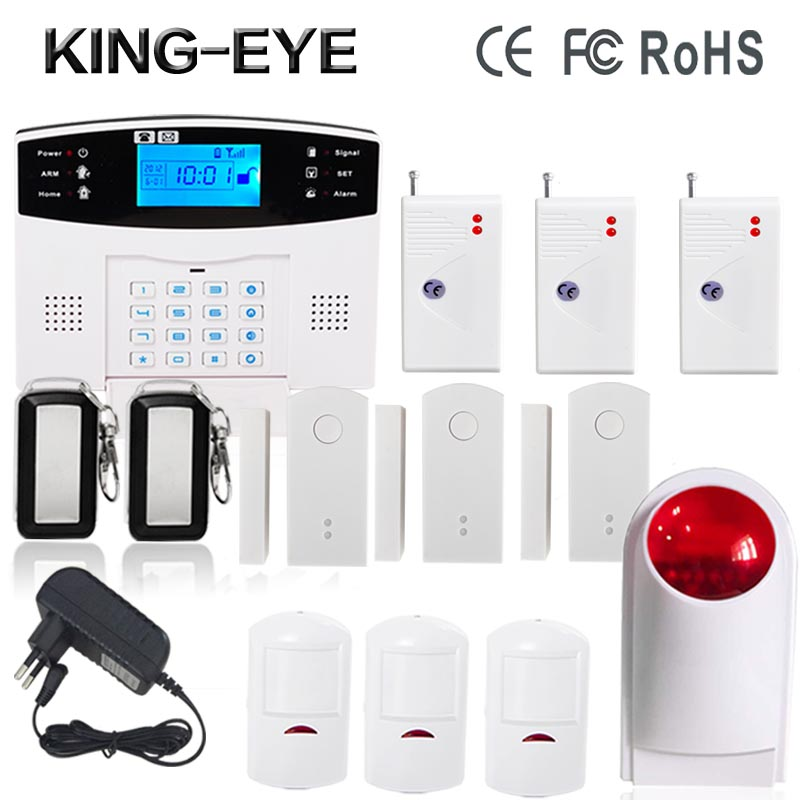 433 MHz French/Spanish/Italian/Czech home security GSM alarm system vibration sensor wireless outdoor strobe siren door sensor(China (Mainland))