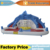 YARD Inflatable water slide,Shark inflatable water slide with Blower , Happy summer toys for children