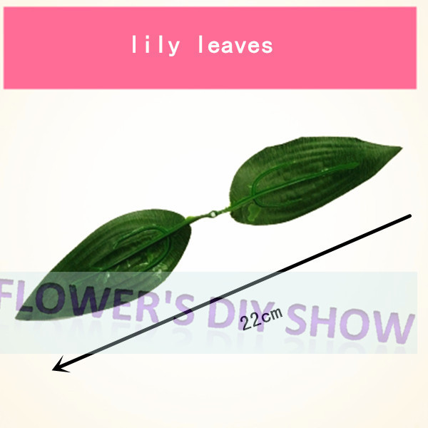 Free shipping wholesale DIY lily flower leaves artificial leaves for nylon stocking flower accessories(100pcs/lot $9.9)(China (Mainland))
