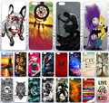 Hot Selling Cute Dog Dreamcatcher Wolverine Cute Despicable Me Minions Owl Painted Case For iPhone 4