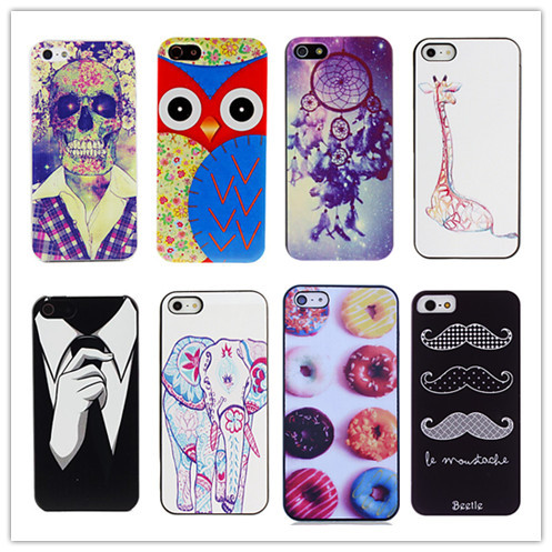 PC Skull in Suit Pattern Hard Case Cover for iPhone 5/5S Phone Cases Free Shipping(China (Mainland))