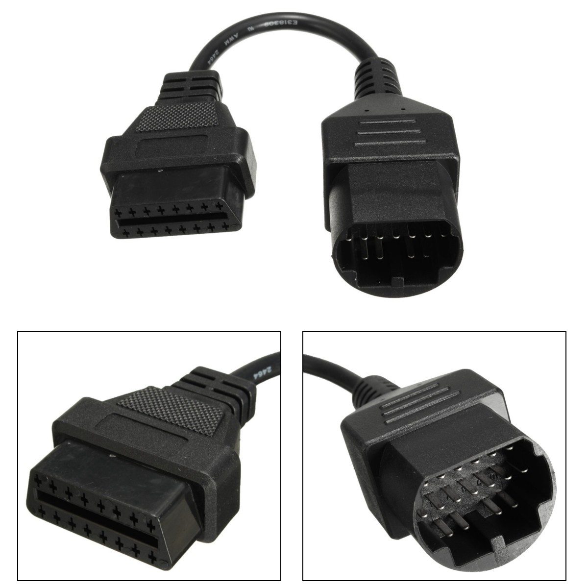17pin to 16pin OBD2 Diagnostic Cable Adapter Code Scanner For Mazda Ford Ranger