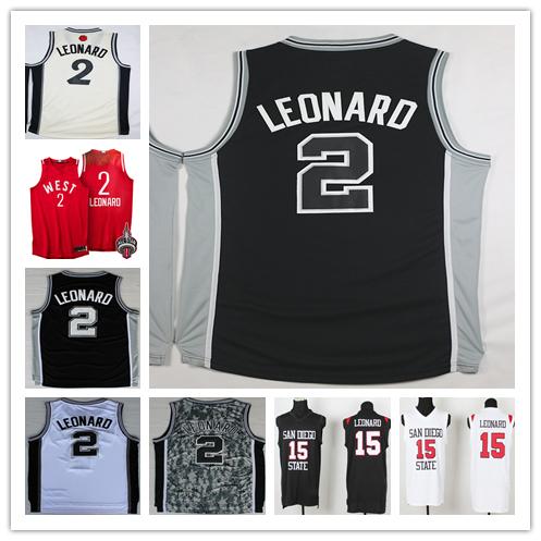 Cheap Men's #2 Kawhi Leonard Jersey 2016 New Black White Gray Camo Stitched #15 Kawhi Leonard Basketball Jerseys Free Shipping(China (Mainland))