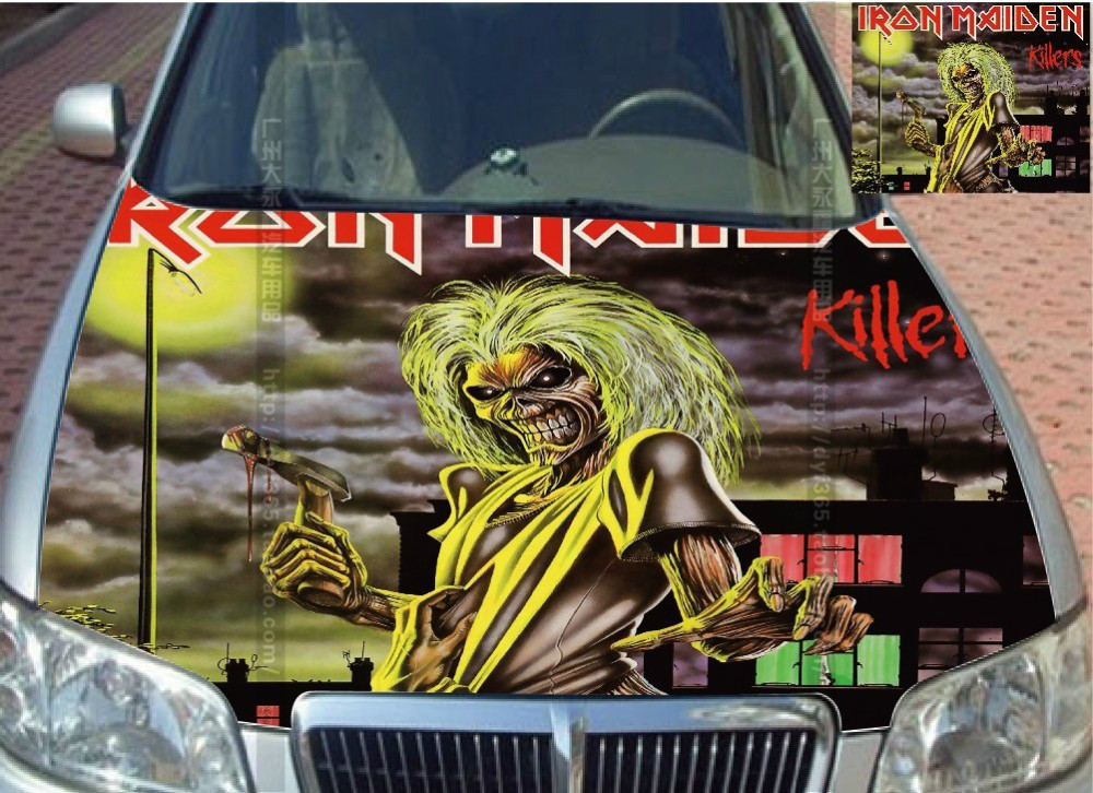 EMS Free Shipping UNIVERSAL CUSTOMIZED Zombie Killer Car Hood Sticker Styling Head Roof Body Decal Decor Carbon Vinyl Waterproof(China (Mainland))