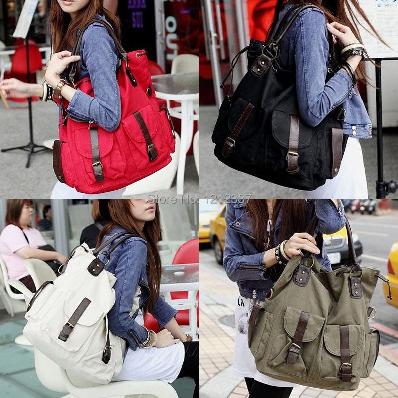 Fashion Korea Style Lady Girls Casual Canvas Large Tote Bag Handbag Shoulder Bag HB88(China (Mainland))