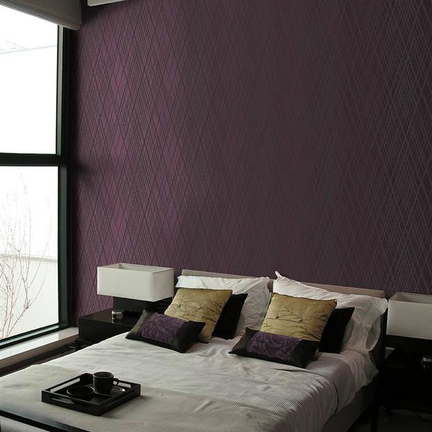 Decor Black Wall Paper : Aliexpress buy textured d dark purple modern