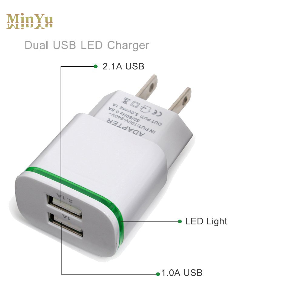 US/EU Plug Dual USB Wall Charger Adapter for Letv LeEco Le Pro 3/Le 2 X520/ Le2 Pro/Le2 Max for Chuwi Hi10 Plus Travel Charger