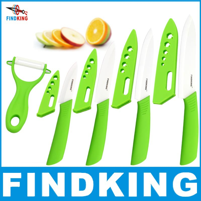 """Beauty Gifts Zirconia kitchen green color knife set Ceramic Knife Set 3"""" 4"""" 5"""" 6"""" inch+peeler+Covers+Free shipping(China (Mainland))"""