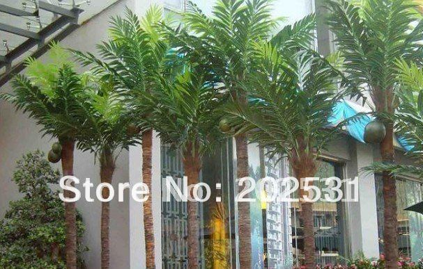 artificial 100cm coconut palm trees with fruits,hotel/home decoration,artificial plants,free shipping(China (Mainland))