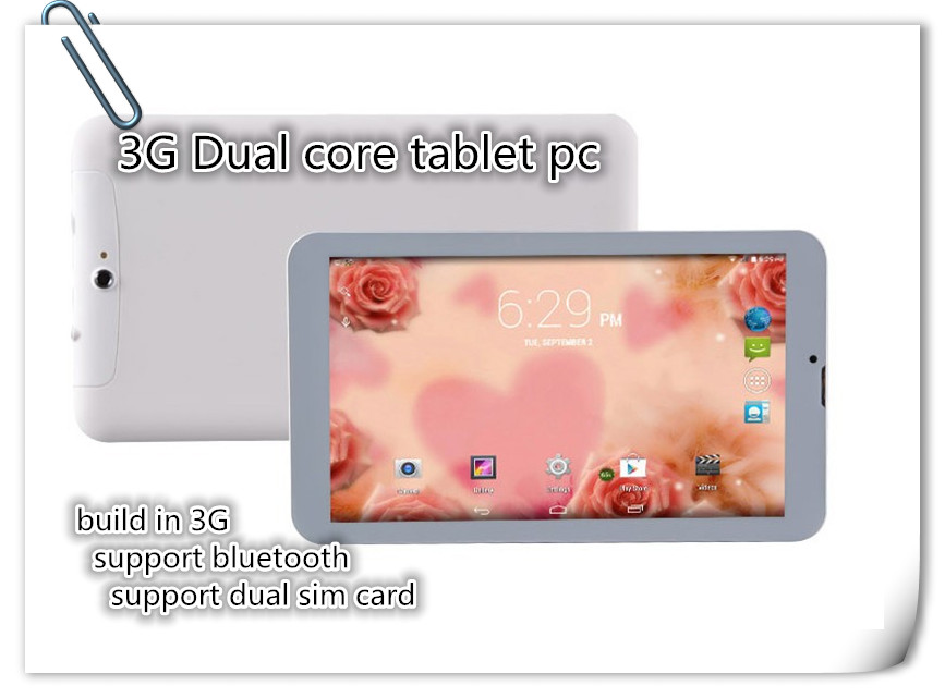 """VIP customer specail design 9"""" inch dual core MTK6572 3G phone call android tablet pc build in 3G GPS bluetooth wifi"""