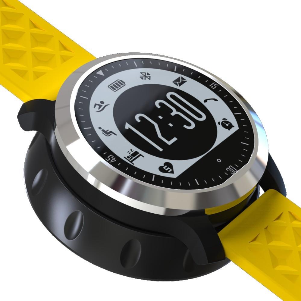 ถูก พารากอนว่ายน้ำIP68กันน้ำS Mart W Atch F69สมาร์ทนาฬิกาเวลาจริงh Eart rate monitorนาฬิกาข้อมือPedometer F68 MOTO360