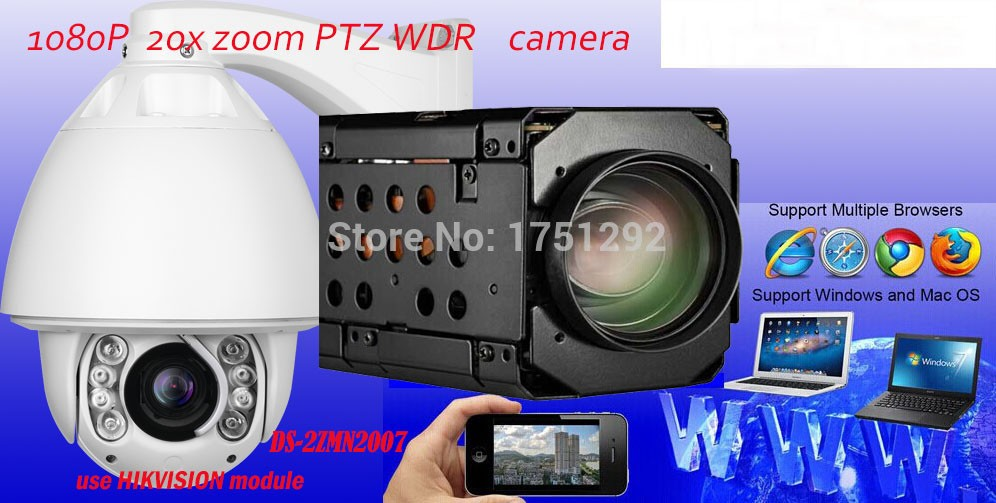 1080P  20X Zoom Auto Tracking PTZ IP Camera Support Audio and Alarm CCTV Security Video Network Surveillance PTZ