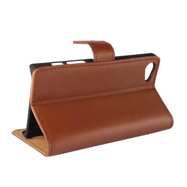 100% Genuine Leather Case for Sony Xperia Z5 Mini Z5 Compact Wallet Leather Flip Cover for Sony Xperia Z5 Compact(China (Mainland))