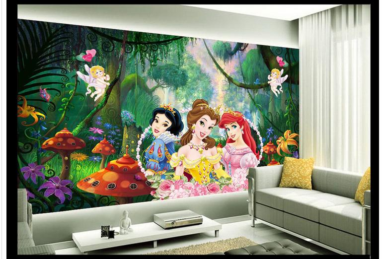 3d photo wallpaper custom 3d wall mural wallpaper Ice and snow woods animated cartoon TV setting wall 3d living room wallpaper(China (Mainland))
