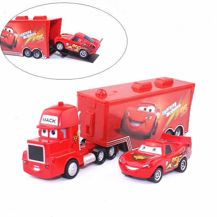 Pixar Cars 2 100% Original No. 95 Mack & mcqueenin Loose Rare Diecast 1:55 kids toys alloy car metal car model Free shipping(China (Mainland))