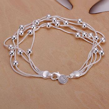 Браслет 925 серебряный браслет 925 серебряных мода ювелирные изделия браслет пять ...