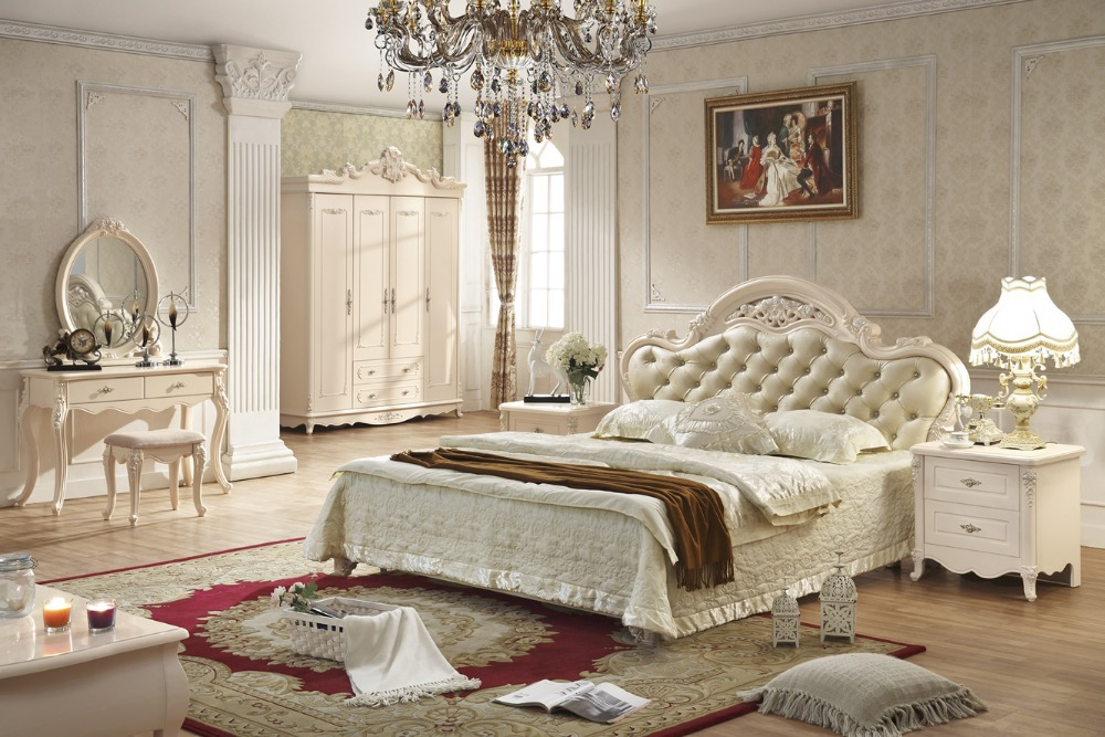 Antique style french furniture elegant bedroom sets py for Chambre style shabby chic
