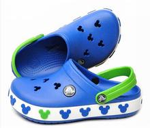 2015 del bambino di stile di estate sandali di marca per bambini 3d del fumetto di mickey minnie delle ragazze dei ragazzi della spiaggia pantofole per bambini scarpe sandalo(China (Mainland))
