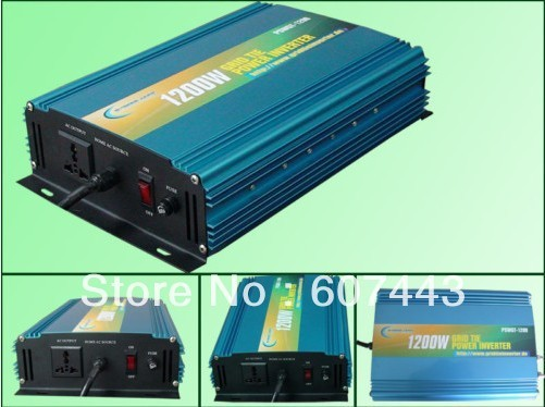 factory supply!! 1200w grid tie inverter solar panel DC14-28v to AC110v  solar panel system/wind turbine