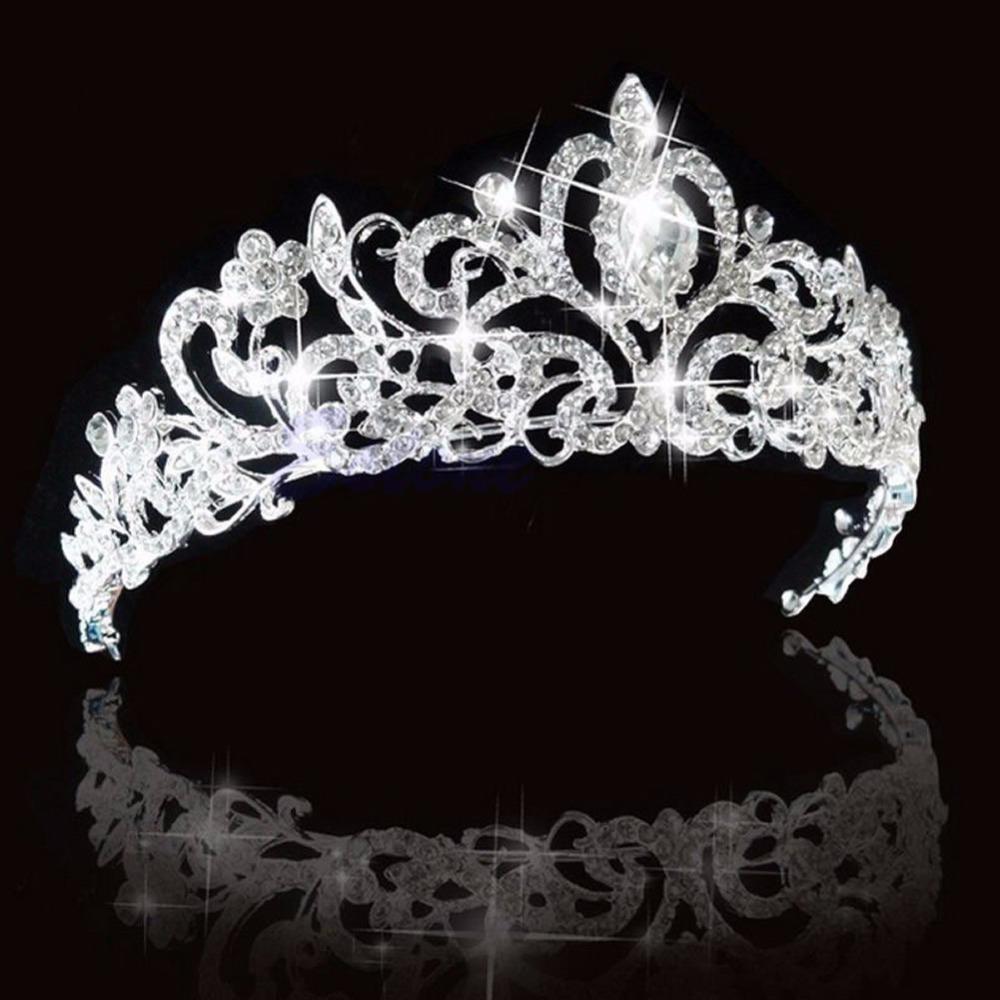 1 pc Stunning Bridal Princess Austrian Crystal Hair Tiara Wedding Crown Veil Headband<br><br>Aliexpress