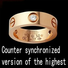 New Fashion Brand Design 4mm Width Stainless Steel Rings For Woman Crystal Jewelry Carter Rings G504