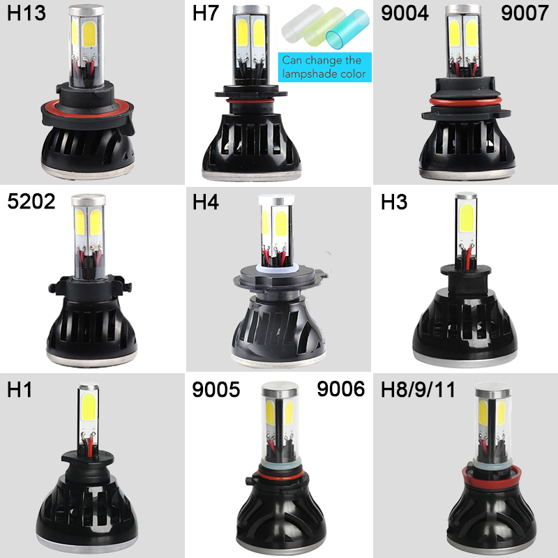 All In One Promotion Car LED Headlight 9005 9006 H7 H8H9 H11 12V 40W 4000LM COB Quality Chip headlamp Super Bright Fast Shipping
