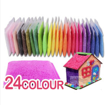 24 color pearl Clay Magic  Drawing Toy Snow mud Enlighten Educational Novelty Indoor lets make(China (Mainland))