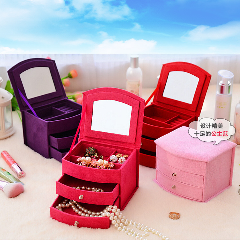 Hot Sale Makeup Organizer Small Things Storage Box with Drawer,Rangement Maquillage,Caixa Organizadora,Organizer for Cosmetics(China (Mainland))