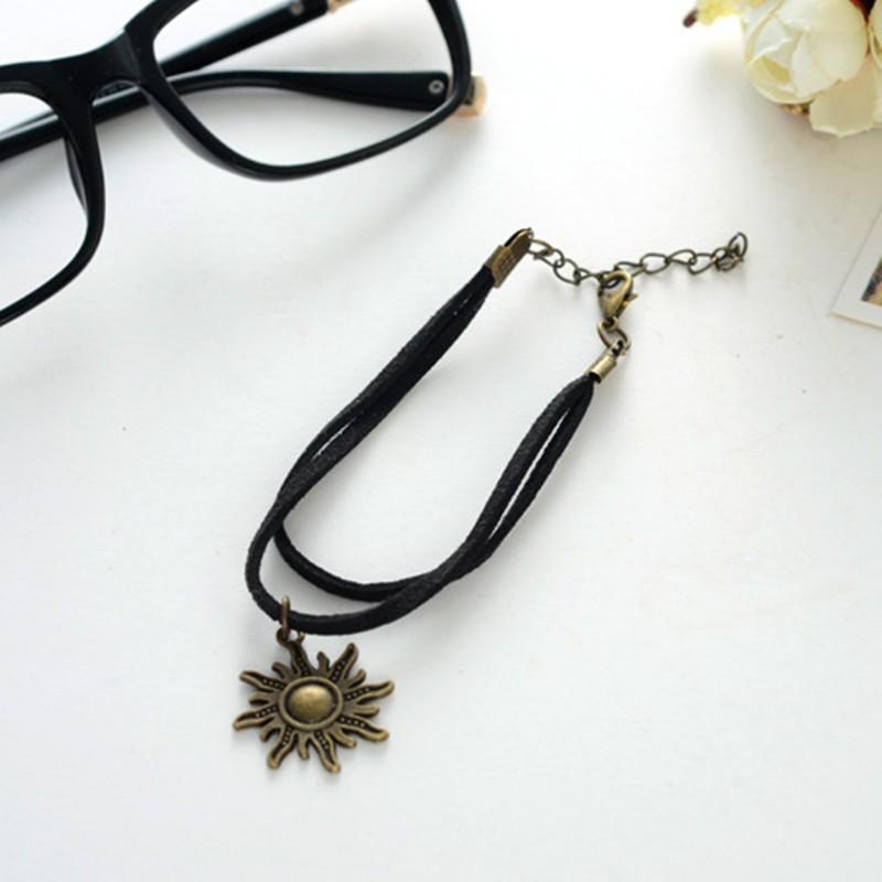 SL170-Vintage-Bracelets-Bangles-Gothic-Punk-Black-Velvet-Suede-Leather-Pulseiras-Women-Sun-Bracelet-Jewelry-Bijoux