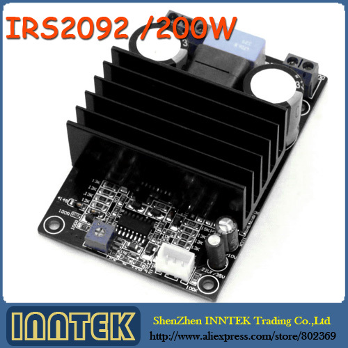 Assembled IRS2092 200W Class D Amp Mono Amplifier, Free Shipping(China (Mainland))