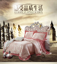 Home textile satin jacquard wedding authentic home textile embroidery 4 bedding special package 1.8 mail(China (Mainland))
