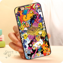 Cute Design Adventure Time Hard Plastic Skin Mobile Phone Case Accessories For iPhone 6 6plus 5c 5s 5 4 4s Case Cover Original