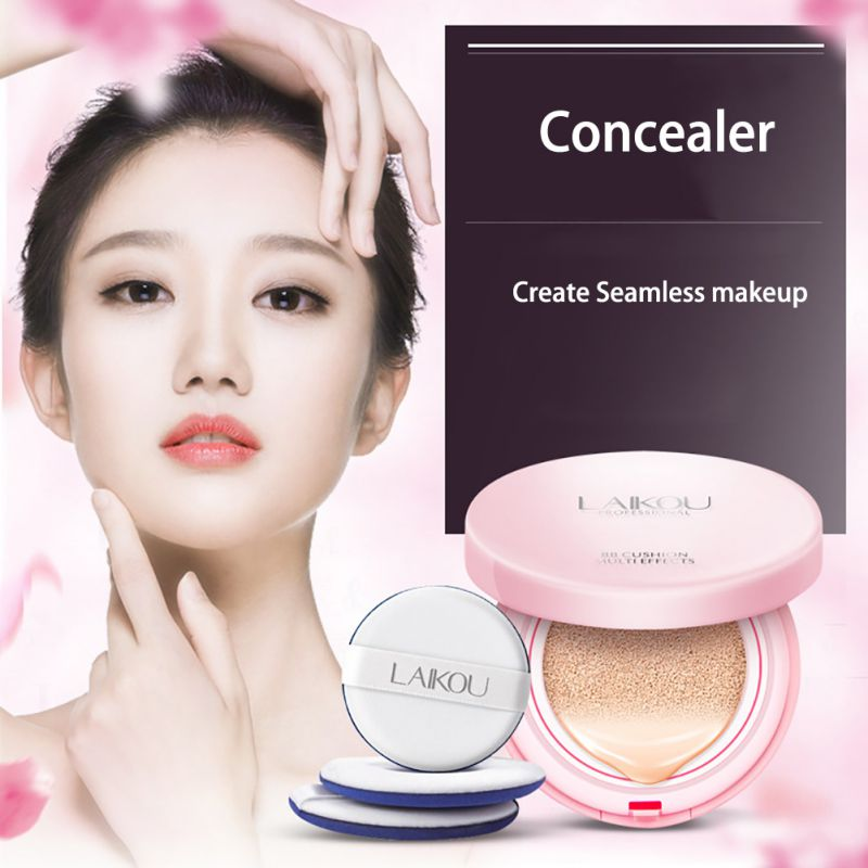 Low Price 3Color Air Cushion BB Cream Sunscreen Concealer Moisturizing Foundation Makeup Bare Air Cushion BB Cream(China (Mainland))