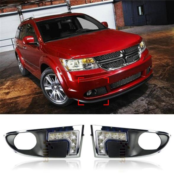 6 LED Car Styling DRL For Dodge Journey 2009 2010 2011 2012 Daytime running lights High quality Free shipping<br><br>Aliexpress