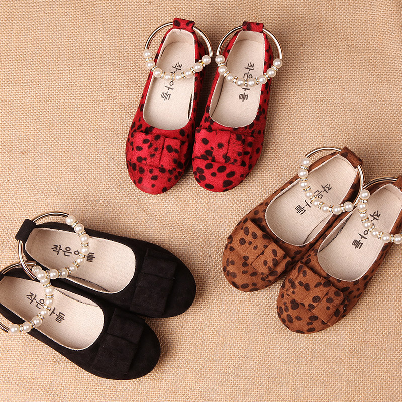 New 2016 Spring Girls shoes Fashion Children shoes  Leopard Bowknot princess shoes Casual Kids shoes Girls Flats <br><br>Aliexpress