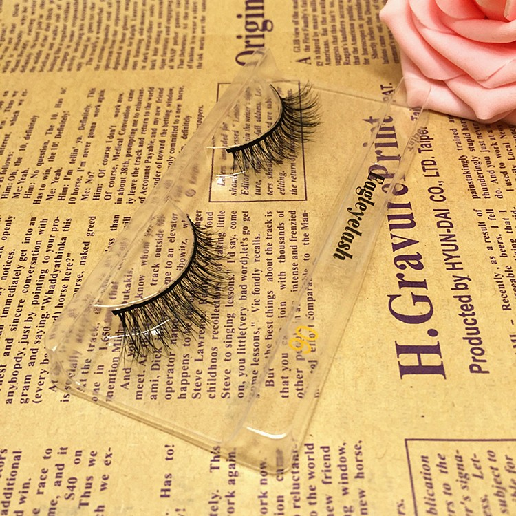 New package 1 pair Horse Hair False Eyelash Extension H06 Makeup Cosmetics Natural Long Crisscross Fake Eye Lash Free shipping