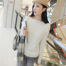 2014 spring pure cashmere sweater o-neck all-match pullover sweater slit neckline basic sweater shirt