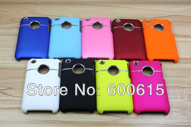 3G Delux Rubber Hard Plastic Case Cover For iPhone 3GS 3G Phone cover free shipping dropshipping(China (Mainland))