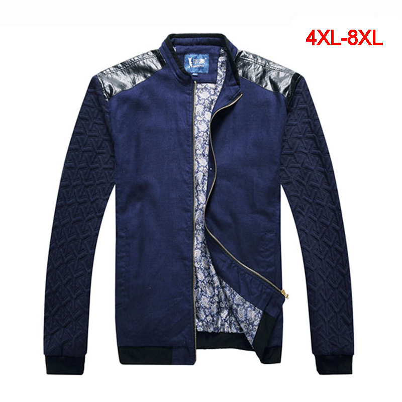 New Fashion Mens Winter Coats Warm Jackets Plus Size 4XL-8XL Patchwork Style Stand Collar Outerwear JK704 Одежда и ак�е��уары<br><br><br>Aliexpress